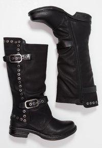 Coolway - GISELE - Kowbojki i obuwie motocyklowe - black - 3