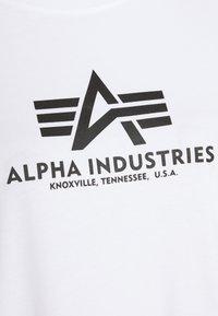 Alpha Industries - BASIC LONG - Jersey dress - white - 5