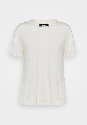 SILK BLEND T-SHIRT - Basic T-shirt - offwhite