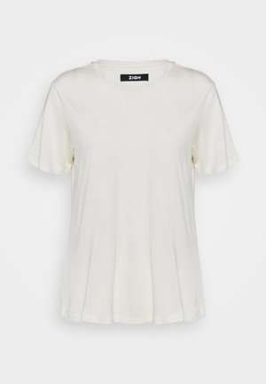 SILK BLEND T-SHIRT - T-shirt basic - offwhite