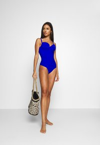 Pour Moi - SPLASH PADDED UNDERWIRED SUIT - Swimsuit - blue