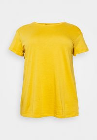 New Look Curves - BOYFRIEND TEE - Basic T-shirt - dark yellow - 0