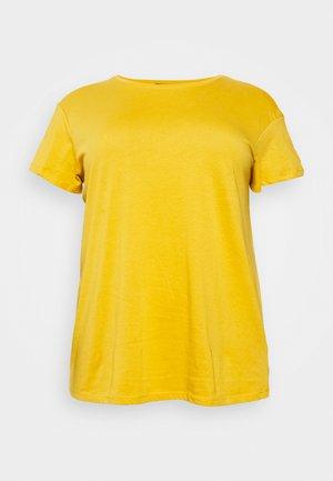 BOYFRIEND TEE - Jednoduché triko - dark yellow