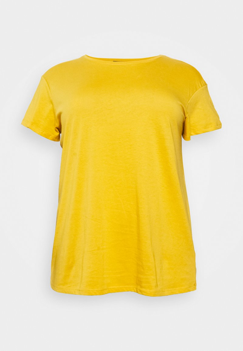 New Look Curves - BOYFRIEND TEE - Basic T-shirt - dark yellow