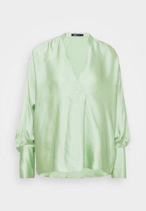 V NECK TUNIC - Blouse - nile green