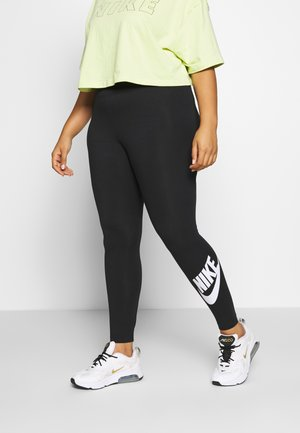 LEGASEE PLUS - Leggings - Trousers - black/white