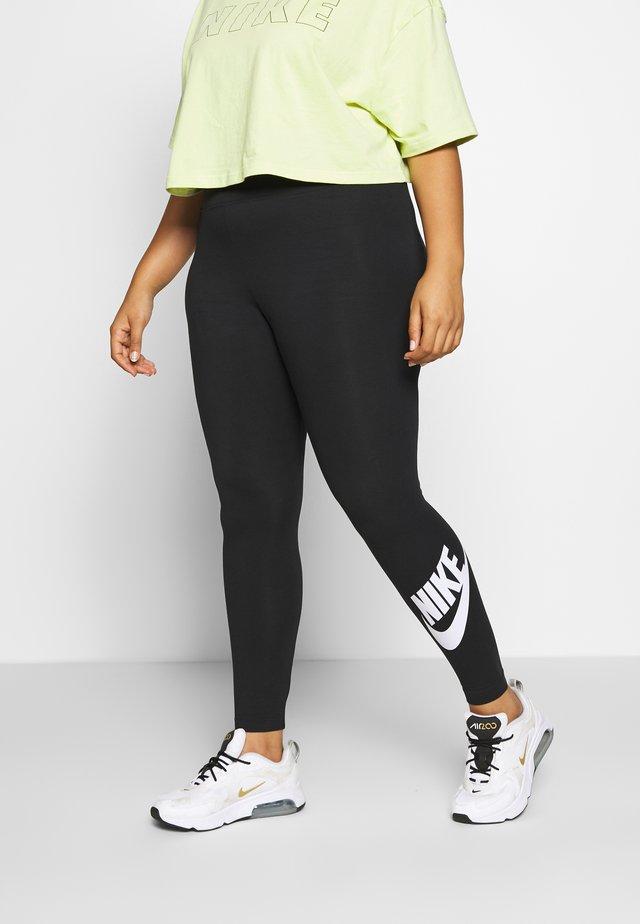 LEGASEE PLUS - Leggings - Trousers - black/white