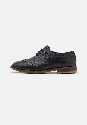 LEATHER - Šněrovací boty - black
