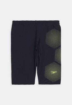 TECH PLACEMENT JAMMER - Swimming trunks - true navy/fluorecent yellow
