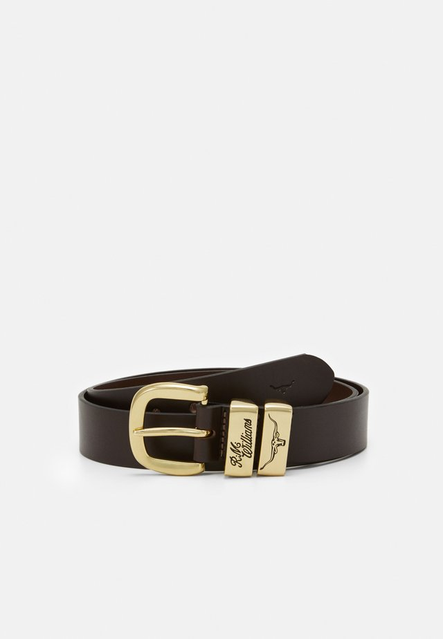 3-PIECE SOLID BELT - Riem - chestnut