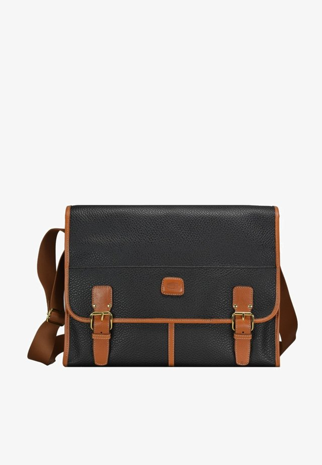 MAGELLANO MESSENGER  - Sac bandoulière - black/brown