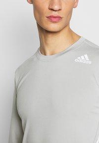 adidas Performance - AERO - Sportshirt - metal grey - 4