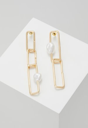 SQUARE LINK  - Earrings - gold-coloured