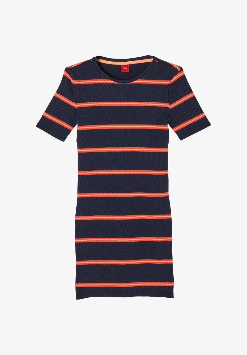 s.Oliver - JURK - Jumper dress - dark blue stripes