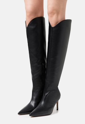 POINTY SHAFT BOOTS - Høye støvler - black