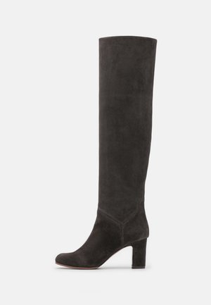 BOOT NO ZIP - Over-the-knee boots - seal brown