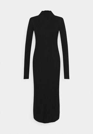 SIDE SPLIT MIDI DRESS - Jumper dress - black