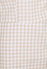 Abercrombie & Fitch - BARE WRAP SHORT DRESS - Day dress - white/tan - 2