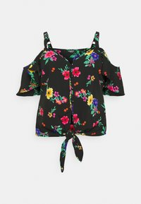 Simply Be - COLD SHOULDER KNOT FRONT TOP - Camicetta - tropical - 0