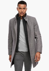 s.Oliver BLACK LABEL - STEHKRAGEN - Short coat - grey melange - 0