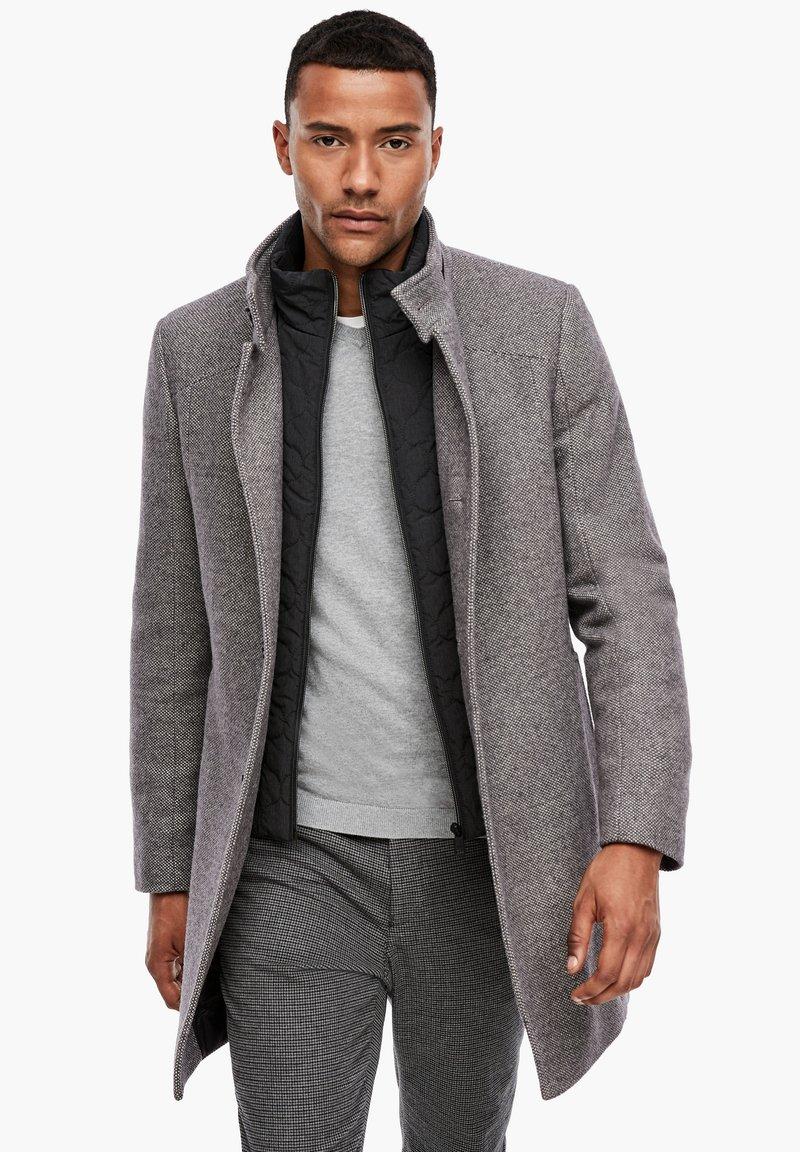 s.Oliver BLACK LABEL - STEHKRAGEN - Short coat - grey melange