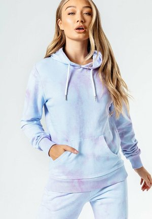 Hoodie - blue/pink