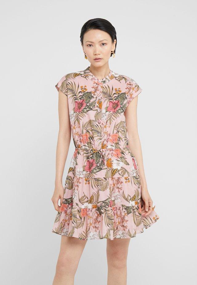 OLLIE DRESS - Vestido camisero - peach whip/multi-coloured