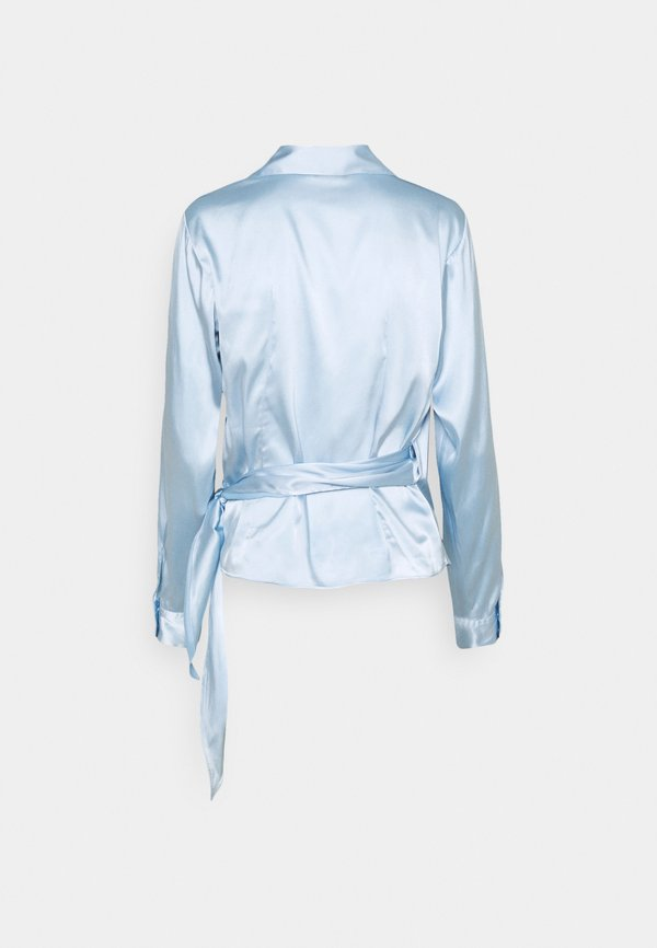 Sand Copenhagen WRAP BLOUSE - Bluzka - light blue/jasnoniebieski CJWU
