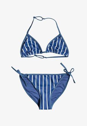 SET - Bikini - moonlight blue kuta stripes
