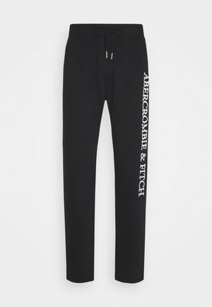 HERITAGE CINCHED HEM  - Tracksuit bottoms - black