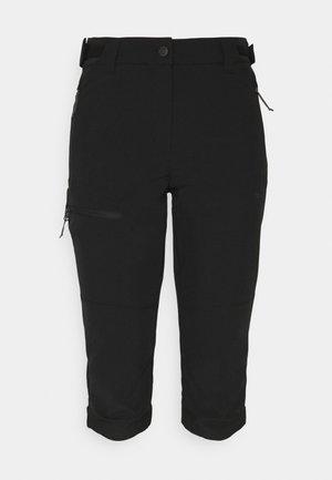 BEATTIE - 3/4 sportovní kalhoty - black