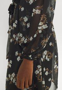 Vero Moda - VMFRAYA V NECK BALLOON DRESS - Shirt dress - black - 6