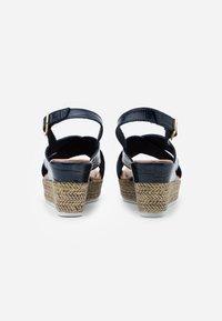 Jana - Platform sandals - navy - 3