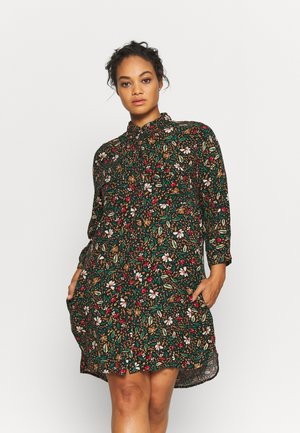 POCKET SHIRT DRESS - Košilové šaty - black