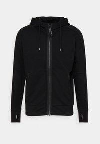 C.P. Company - DIAGONAL RAISED GOGGLE HOODIE - Sweater met rits - black - 0