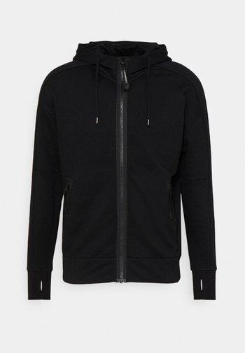 DIAGONAL RAISED GOGGLE HOODIE - Sweater met rits - black
