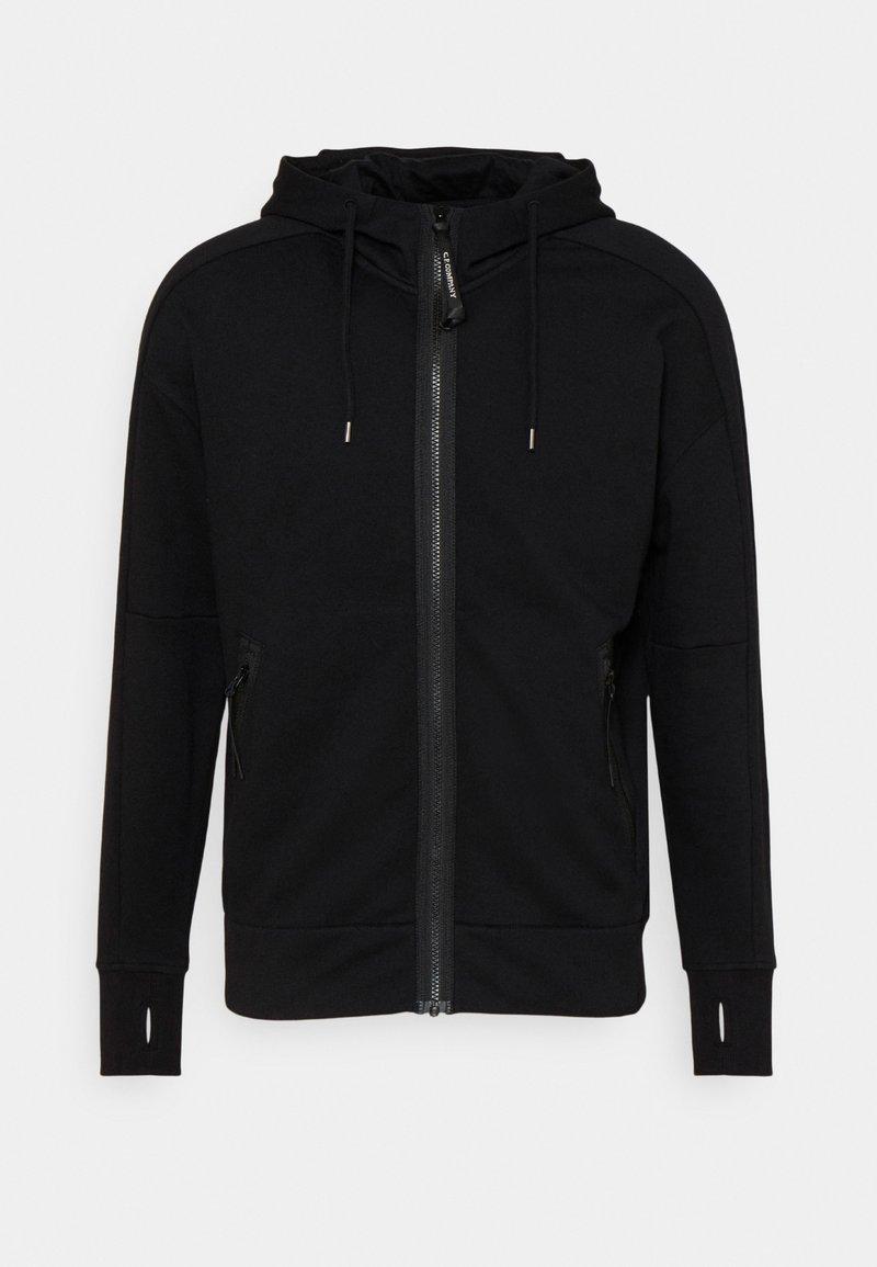 C.P. Company - DIAGONAL RAISED GOGGLE HOODIE - Sweater met rits - black