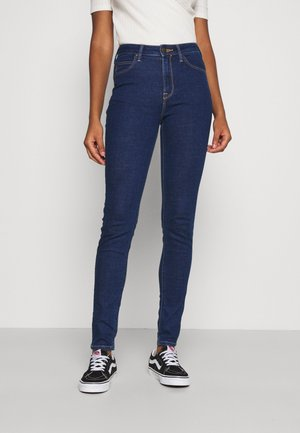 SCARLETT HIGH - Jeansy Skinny Fit - dark blue denim