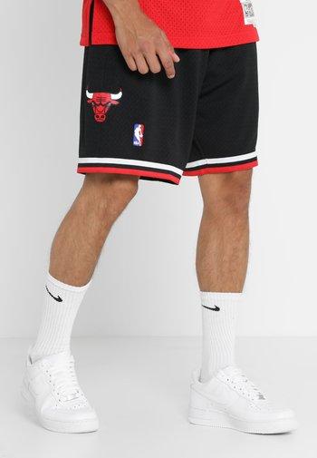 NBA CHICAGO BULLS SWINGMAN SHORT - Pantaloncini sportivi - black