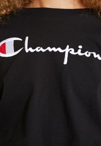 Champion Reverse Weave - BIG SCRIPT CROPPED - Top s dlouhým rukávem - black - 4