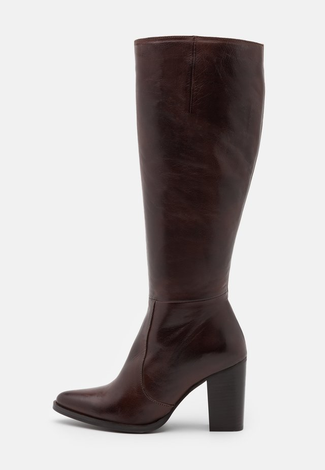BIAJUDIA LONG BOOT - Laarzen met hoge hak - dark brown