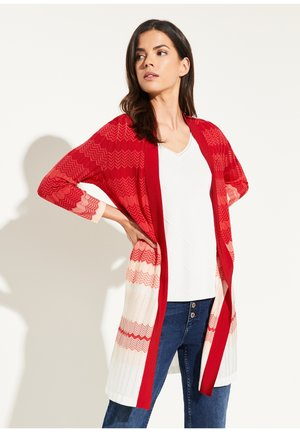OPEN FRONT-DESIGN - Cardigan - dark red zic zac