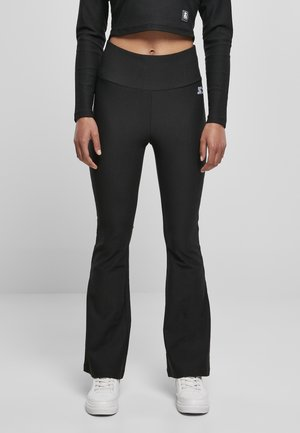 STARTER HIGHWAIST STRETCH BOOT CUT LEGGINGS - Verryttelyhousut - black