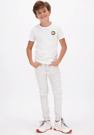 HARVEY - Print T-shirt - real white