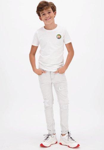 HARVEY - T-shirt print - real white
