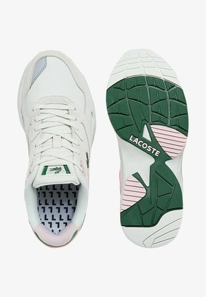 Trainers - off wht/dk grn