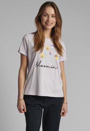 Print T-shirt - orchid petal