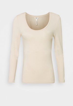 OBJKATE NECK  - Long sleeved top - beige