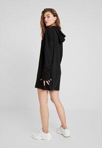 Missguided - HOODIE DRESS - Jersey dress - black - 2