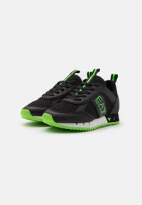 EA7 Emporio Armani - UNISEX - Trainers - black/neon green - 1